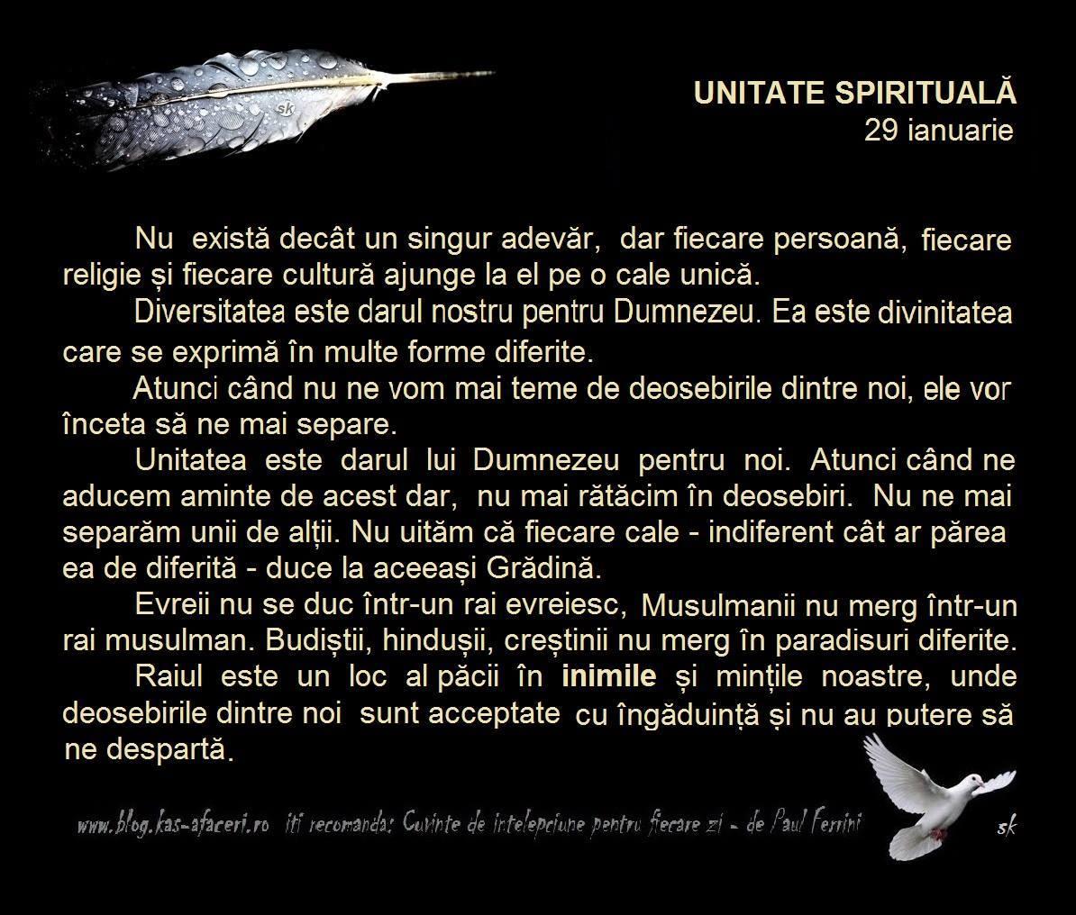 unitate spirituala