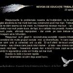 NEVOIA DE EDUCATIE TRIBALA