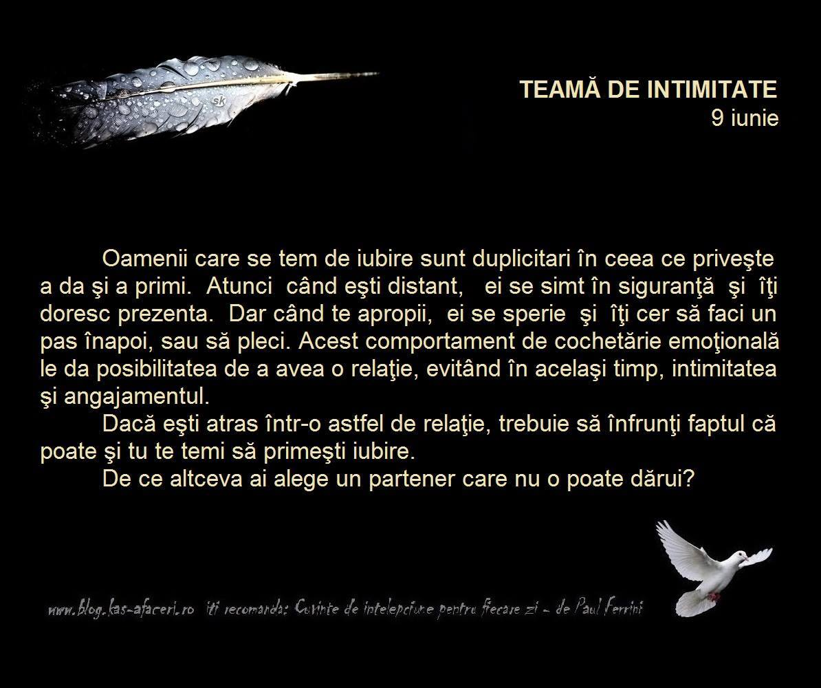 teama de intimitate