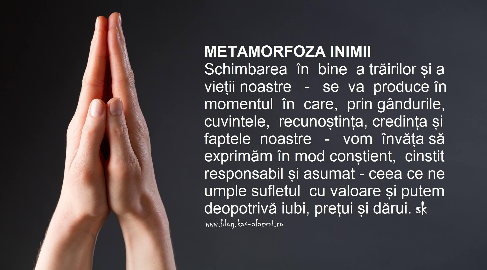 metamorfoza inimii