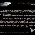 NEVOIA DE A AVEA DREPTATE